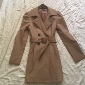 Classic tan trench by Bebe